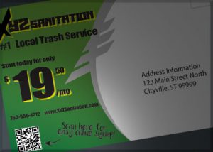 Print Materials with QR code are an effective way to market your waste services