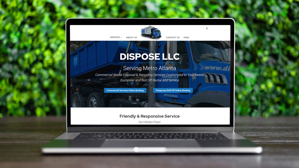 Website and SEO Services for Haulers like Dispose LLC