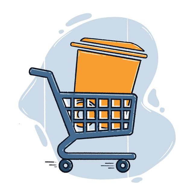 TrashBolt Online Shopping Cart mobile