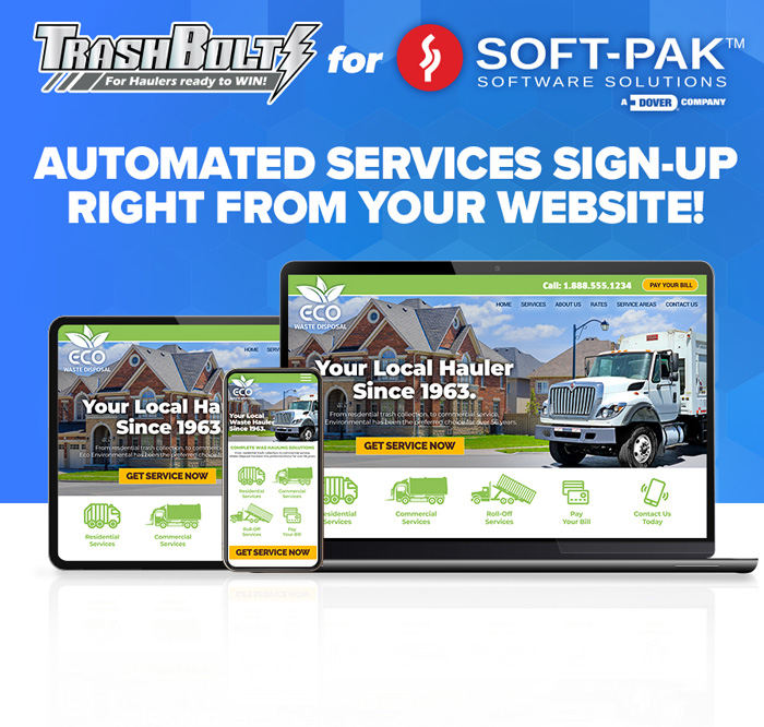 Sell Your Services Directly On Your Website with TrashBolt for Soft-Pak