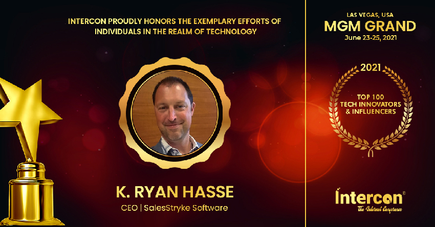 Trashbolt's Awards and Recognitions for Intercon Awardees Top 100 Tech Innovators & Influencers_K. Ryan Hasse SalesStryke