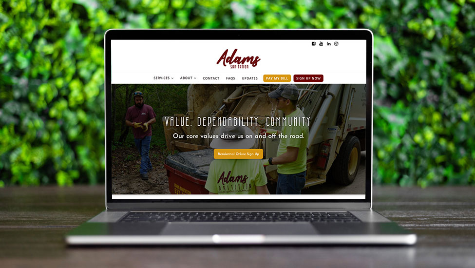 Website and SEO Services for Haulers like Adams Sanitation